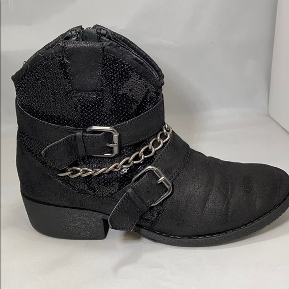 Justice Other - Justice Girls black Booties Size 4
